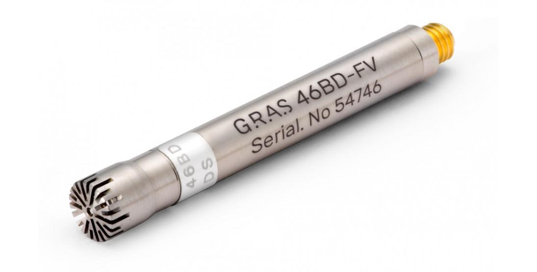 "GRAS 46BD-FV 1/4"" CCP Pressure Standard Microphone Set, Front Vented"