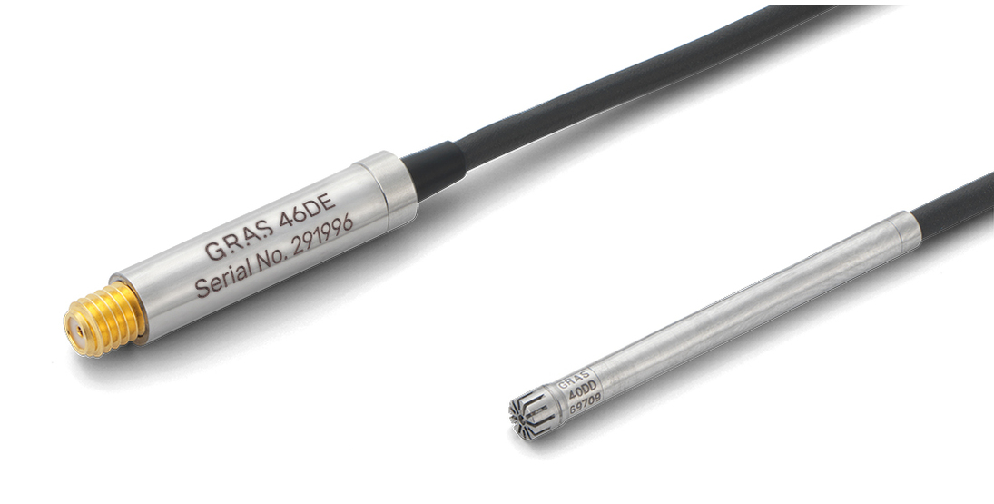 GRAS 46DE 1/8'' CCP Pressure Standard Microphone Set