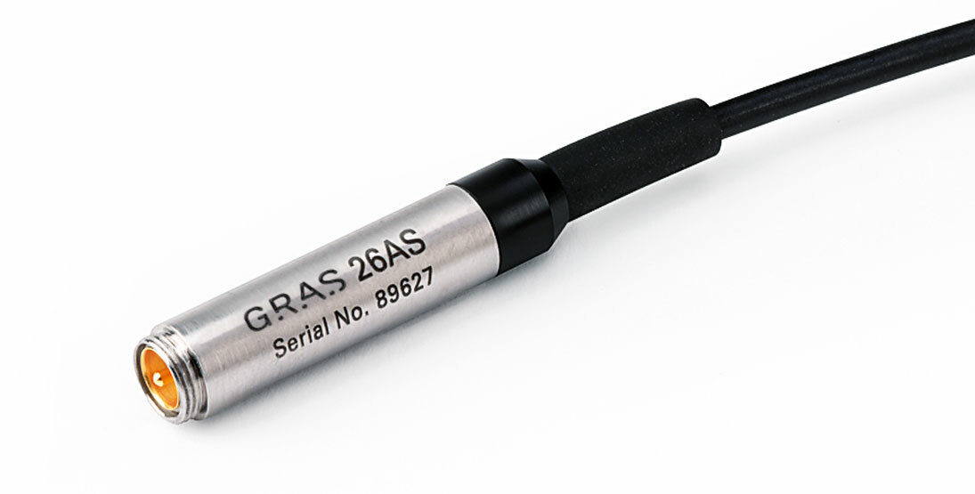"""GRAS 26AS 1/4"""" Standard Preamplifier with 3 m Integrated Cable, Very Short"""