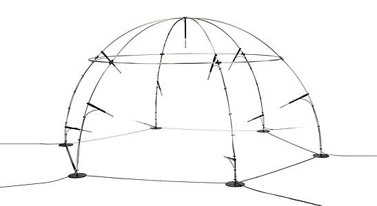 GRAS 67HA 1 m LEMO Hemisphere kit